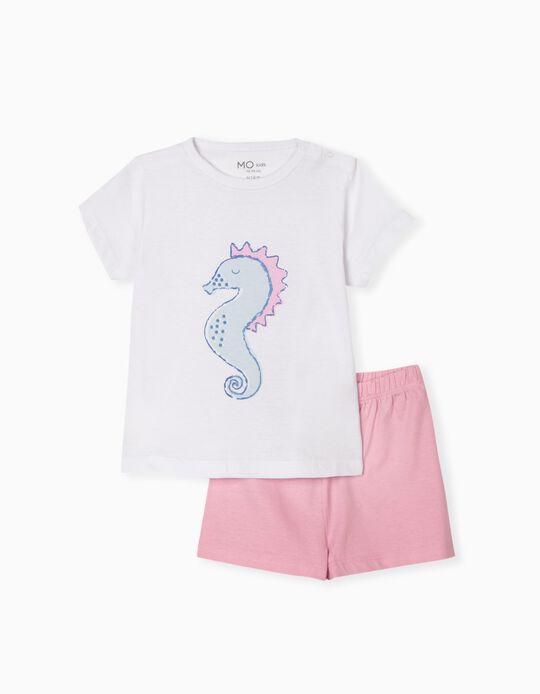 Pyjamas for Baby Girls, 'Seahorse'