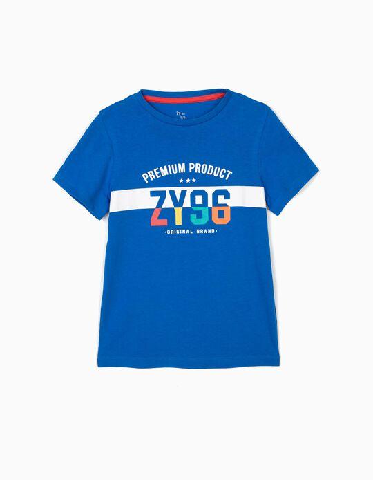 T-shirt para Menino 'ZY 96', Azul