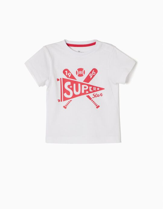 T-shirt Basebol Branca