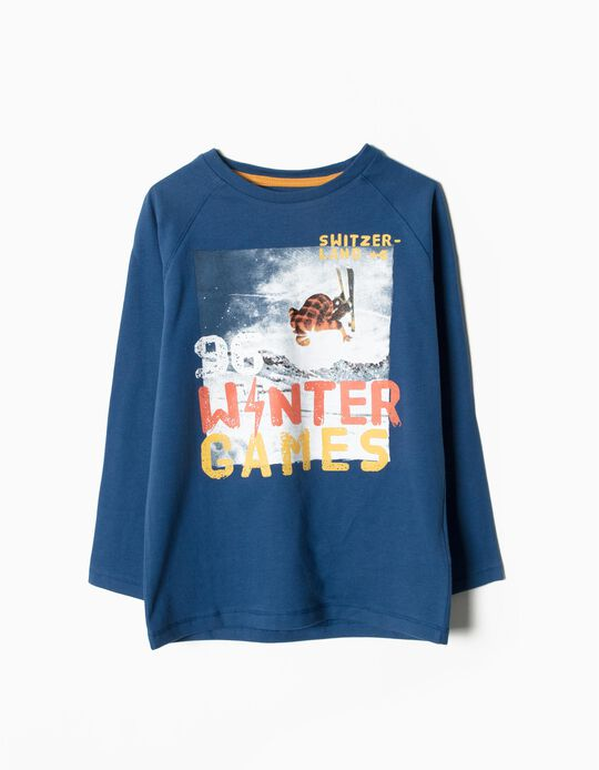 T-shirt Manga Comprida Winter Games