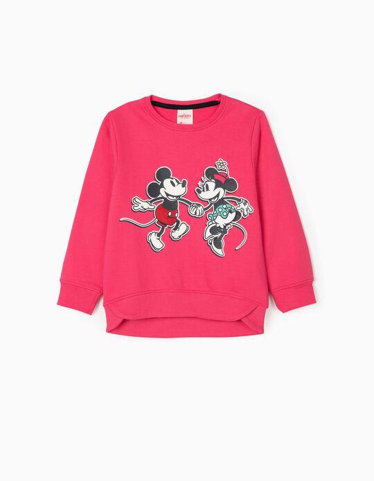 Sweatshirt for Girls, 'Mickey & Minnie', Pink