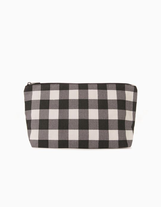 Medium Size Gingham Toiletry Bag