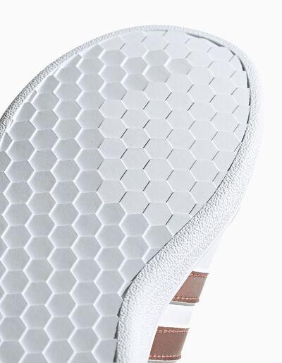 Sapatilhas Adidas Gr Court I com velcro e listas em dourado