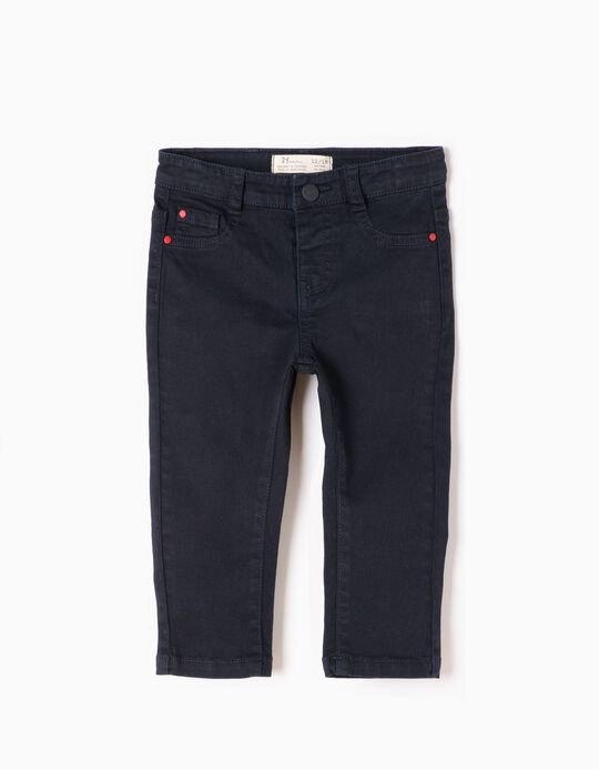 Navy Blue Twill Trousers