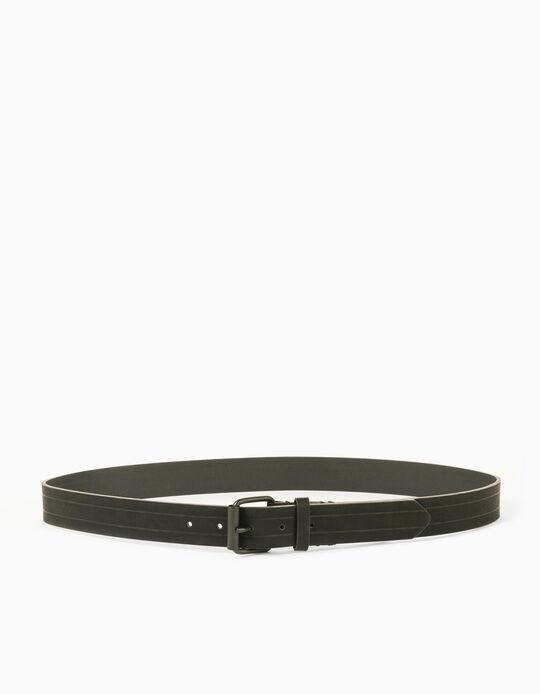 Belt for Men, Dark Green