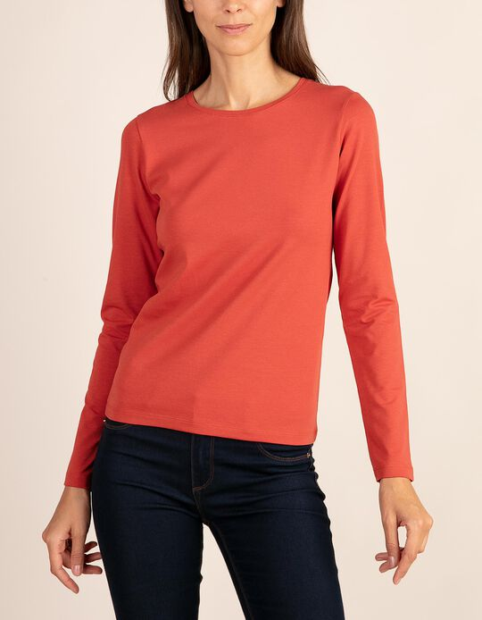 Plain long-sleeved top, part of the Essentials collection.
