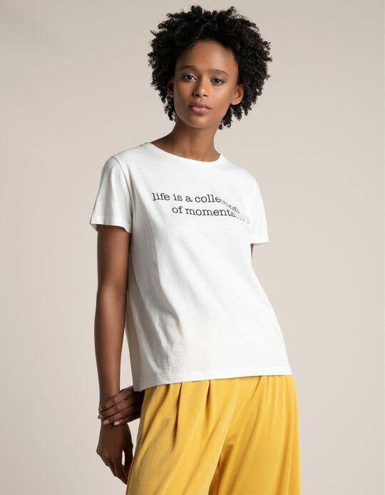 T-shirt com estampado frontal