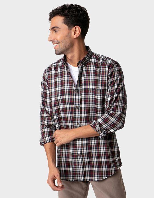 Camisa com Padrão de Xadrez
