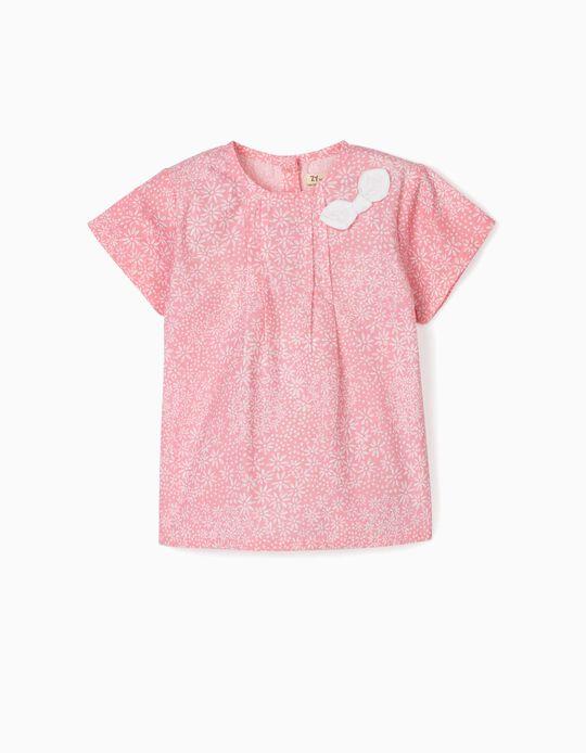 Blusa para Bebé Menina 'Flowers', Rosa