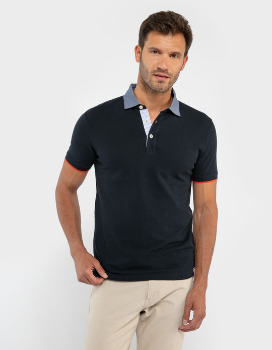 Cotton Polo Shirt with Details