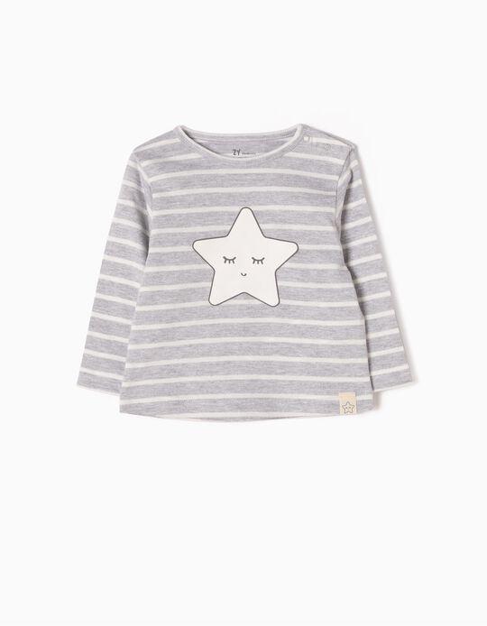 T-shirt Manga Comprida Riscas & Estrela
