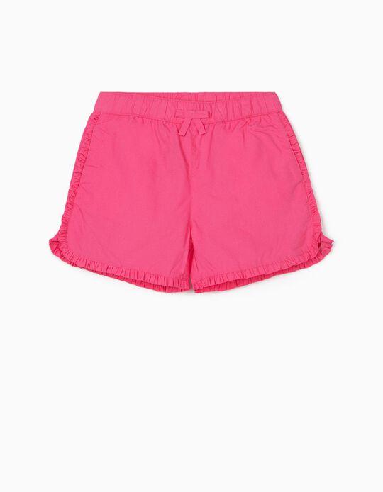 Ruffled Shorts for Girls, Pink
