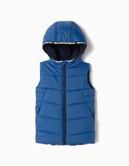 Padded Vest for Boys 'Smile', Blue