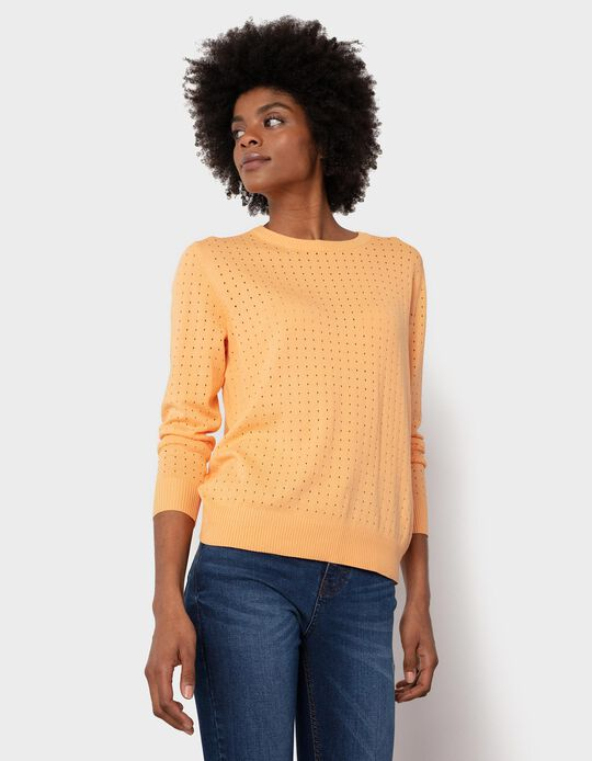 Picot Knit Jumper, for Women