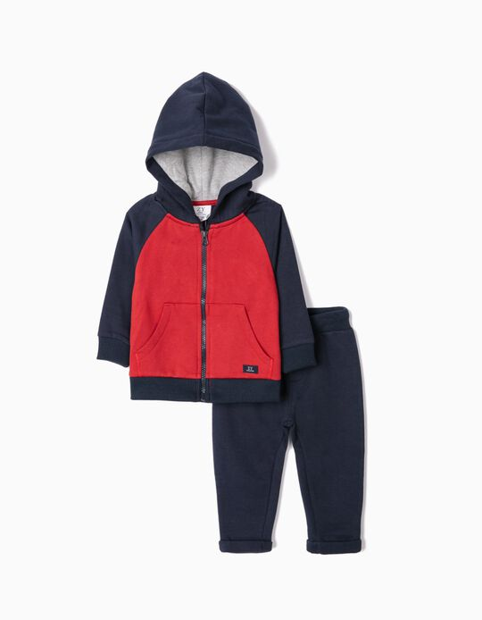 Tracksuit for Baby Boys 'Otago', Blue/Red