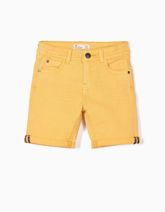 Twill Shorts for Boys, Yellow