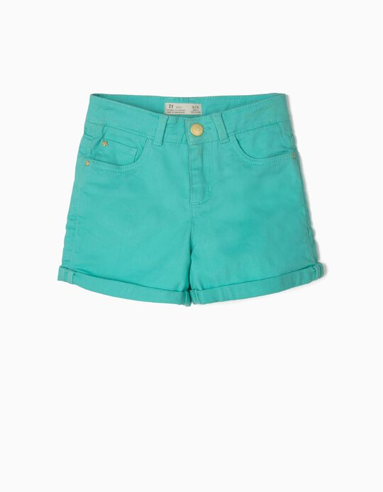 Shorts for Girls, Teal