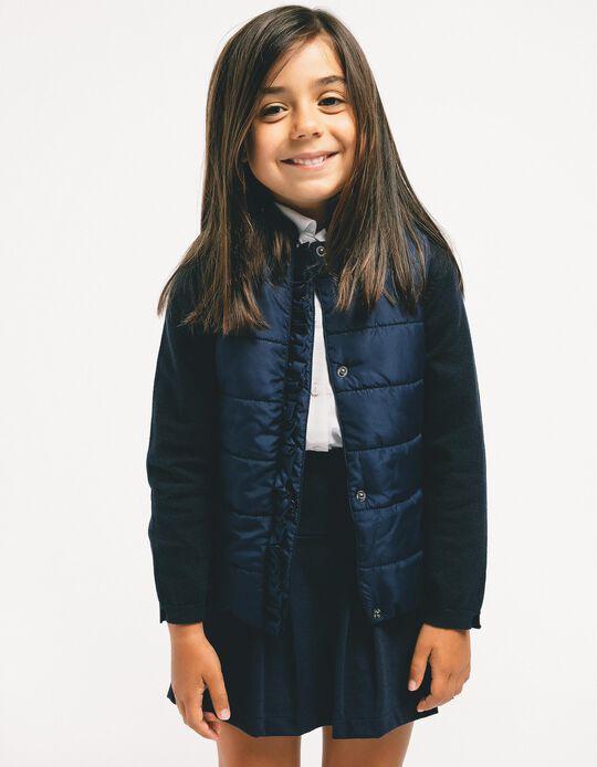 Colete Acolchoado para Menina, Azul Escuro