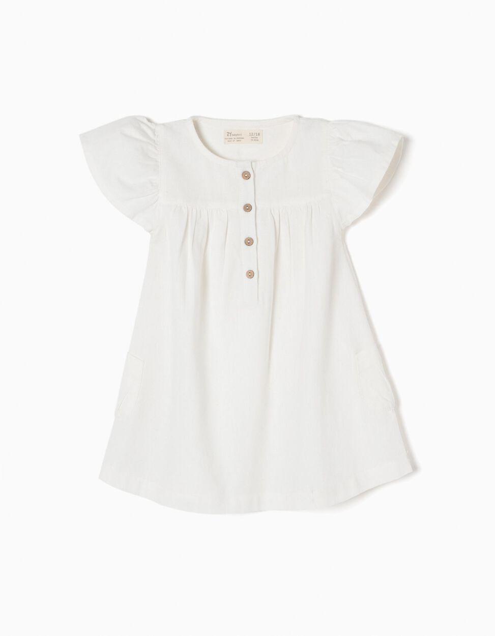 Vestido de Linho Branco