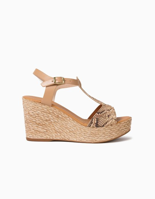 Wedge Sandals, Real Leather