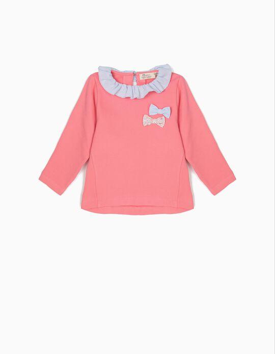 Sweatshirt Rosa com Lacinhos