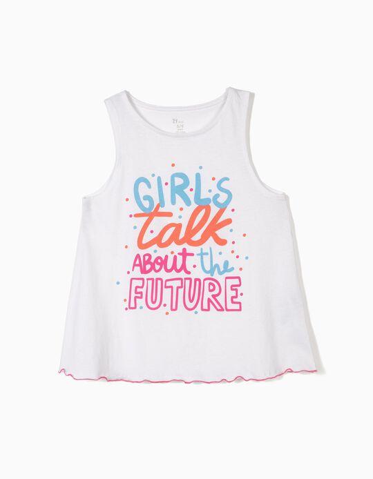 Top para Menina 'Future', Branco