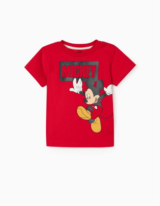 T-shirt for Baby Boys, 'Mickey', Red