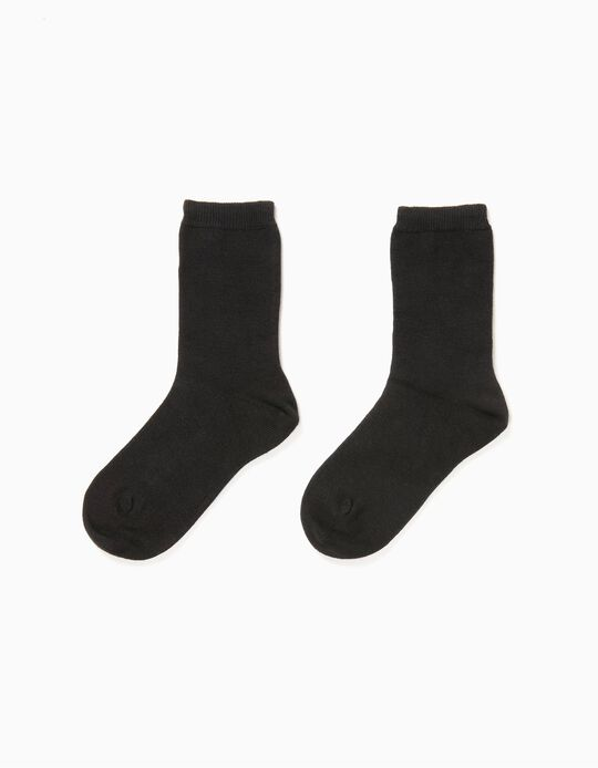 2-Pack Socks for Boys, Black