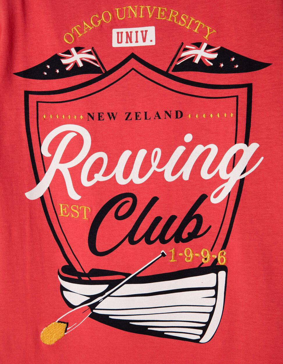 T-shirt Rowing Club Amarela
