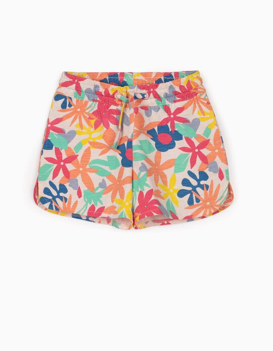 Floral Shorts for Girls, Multicoloured