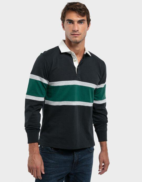 Polo Shirt, Blocks of Colour
