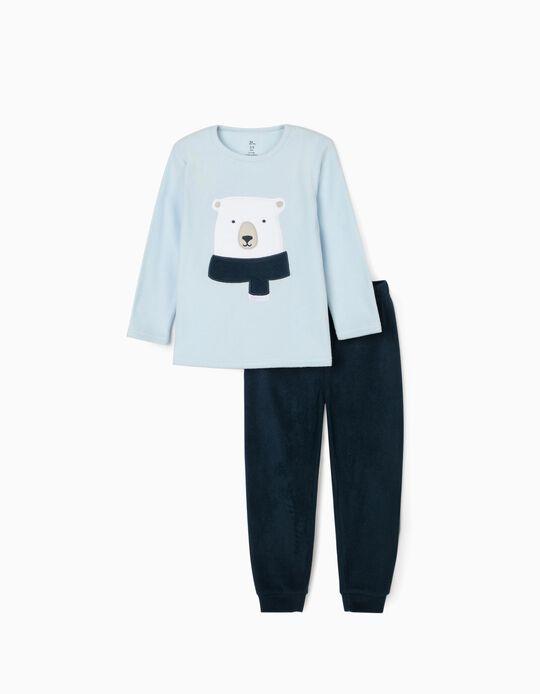 Pijama Polar para Menino 'Bear', Azul