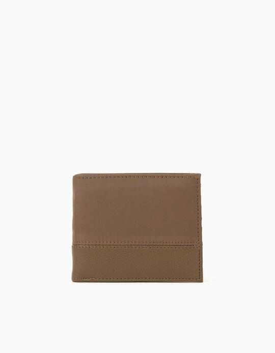 Nylon Wallet for Men, Beige