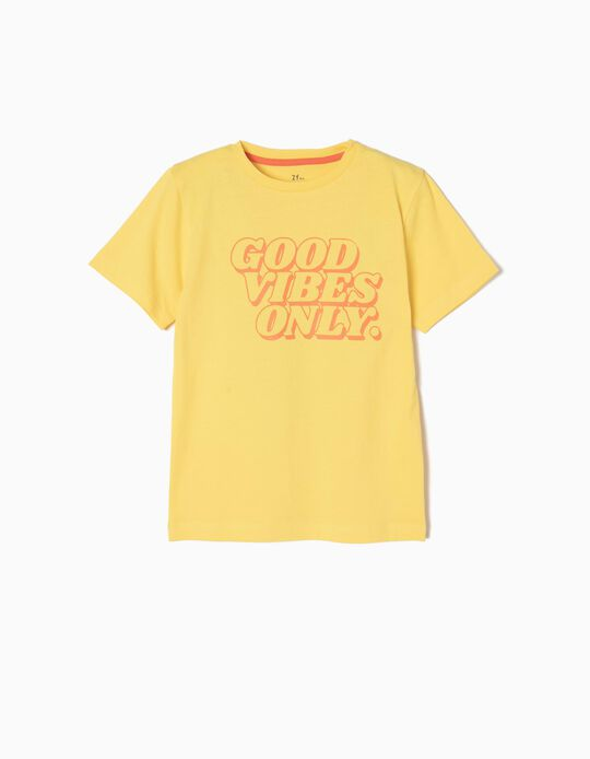 T-shirt Manga Curta Good Vibes