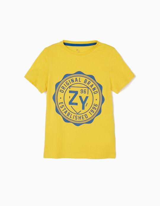 T-shirt para Menino 'ZY 96', Amarelo