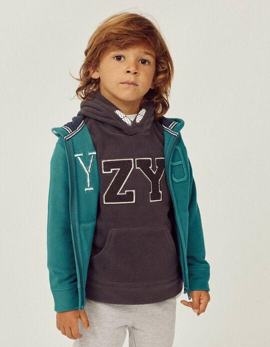 Sweat Polar para Menino 'ZY', Cinza