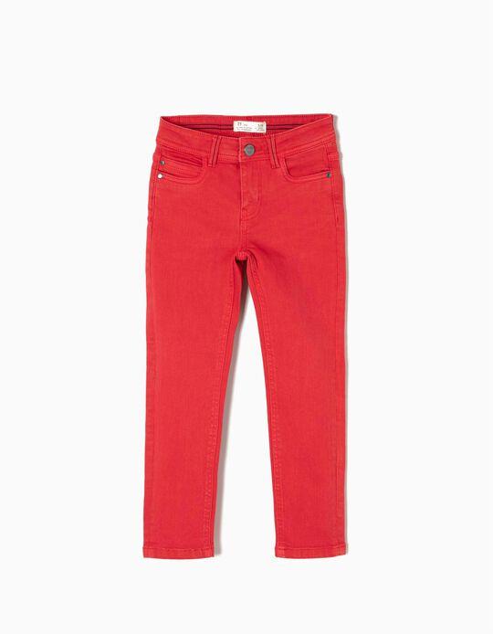 Calças Sarja Vermelho