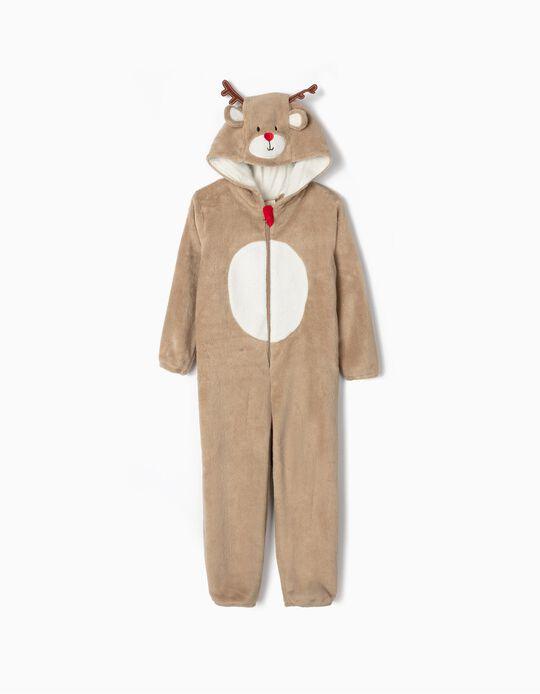Onesie for Kids 'Reindeer', Brown