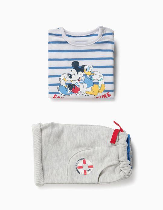 T-shirt e Calções para Recém-Nascido 'Mickey & Donald', Branco