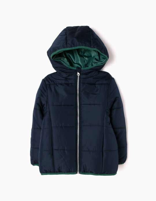 Dark Blue Padded Parka