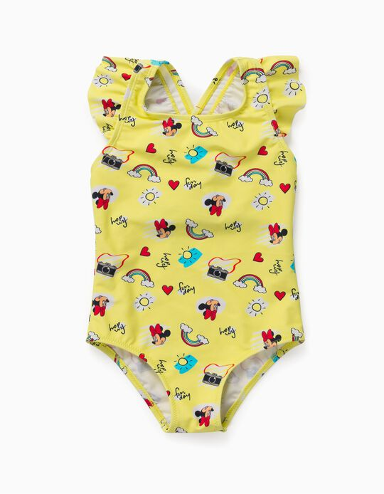 Swimsuit for Baby Girls, 'Minnie Mouse', Yellow