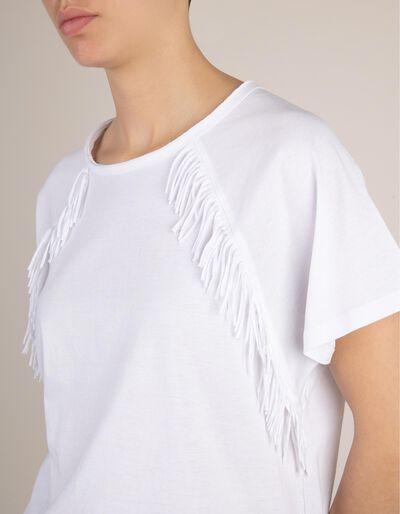 T-Shirt Com Franjas