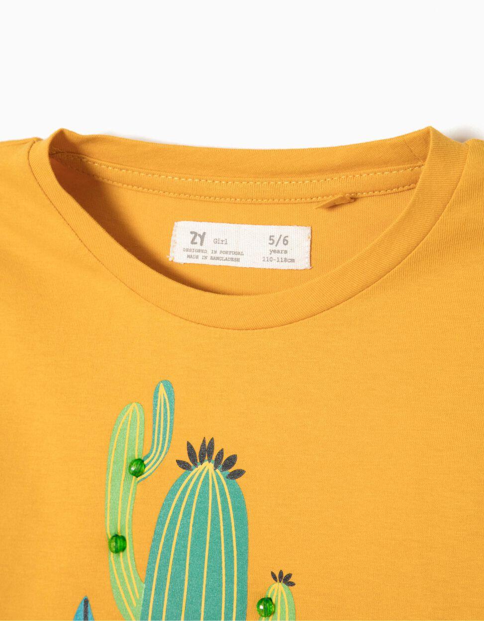T-shirt Curta Cactus Branca