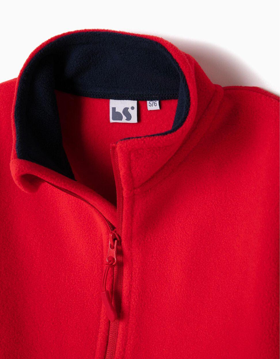 Casaco Polar Vermelho