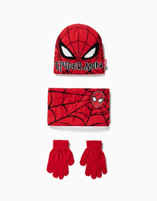 Spider-Man Beanie, Gloves and Scarf