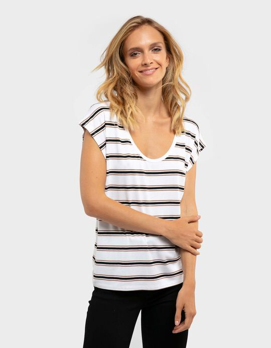 Striped Short-Sleeved T-Shirt