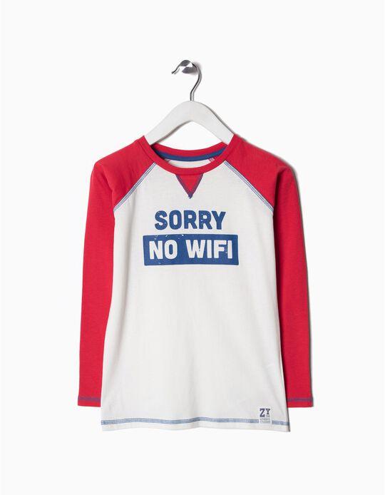 T-shirt Manga Comprida No Wifi