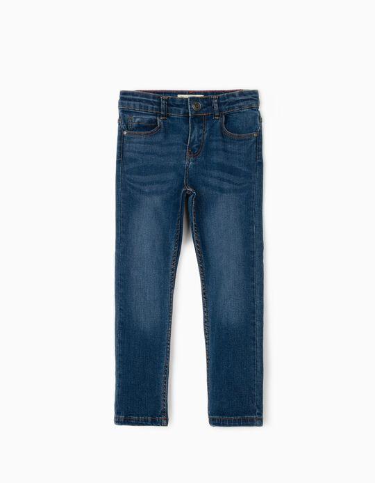 Slim Leg Denim Trousers for Boys, Blue