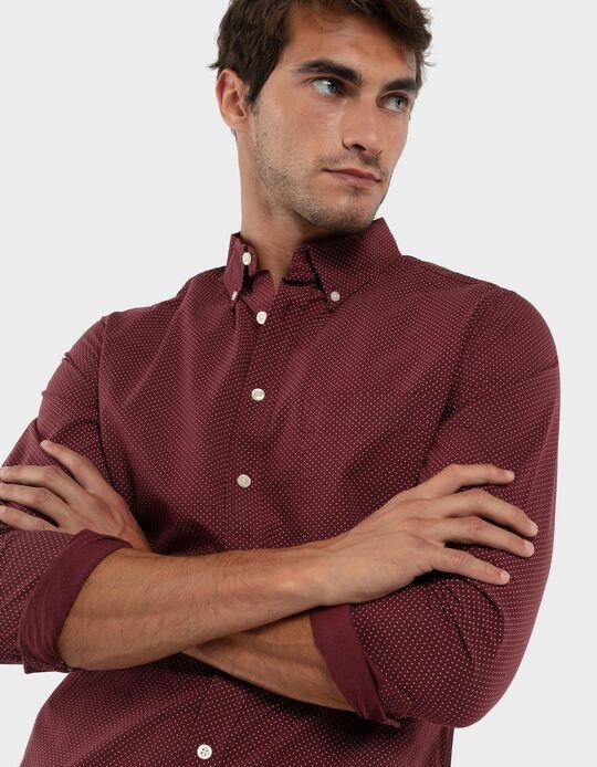 Camisa slim-fit bolinhas