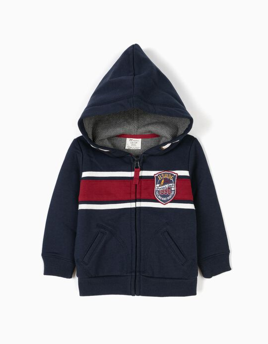 Hooded Jacket for Baby Boys, Dark Blue